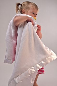 Ultra Plush Baby Blanket Personalized - WHITE Color Blanket
