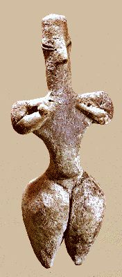 New Stone Age early clay figurine, Nea Nikomedeia, Thessaly, Greece 6000-5500BC