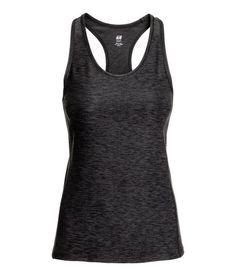 Sports Tank Top   Dark gray melange   Ladies   H&M US