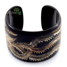 Phoenix Bracelet | PHOENIX Handmade Organic Horn Cuff Bracelet by quecraft on Etsy