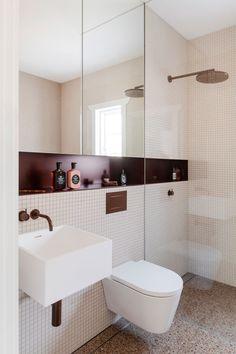 Vista House, Terrazo, Terrazzo Flooring, Brick Facade, Vogue Living, Kitchen Cabinetry, Mid Century House, Lounge Areas, Interior Design