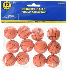 Amscan Cool Basketball Bounce Balls Sports Party Toy Red 35mm >>> You can find more details by visiting the image link.Note:It is affiliate link to Amazon.