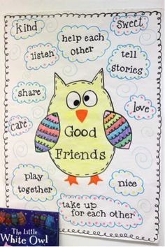 Great anchor chart for making friends