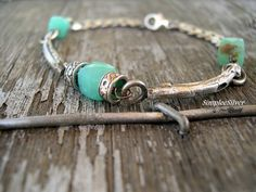 Rustic Silver Bracelet Casual Silver Twig by SimpleeSilver
