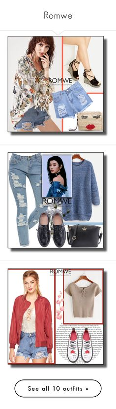 """""""Romwe"""" by dzemila-c ❤ liked on Polyvore featuring romwe and Champion"""