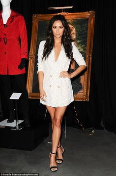 Shay Mitchell at the 'Pretty Little Liars: Made Here Exhibit, Hollywood June, Celebrity Outfits, Celebrity Style, Girl Fashion, Fashion Outfits, Womens Fashion, Shay Mitchell Style, Famous Women, Famous People, Pretty Little Liars