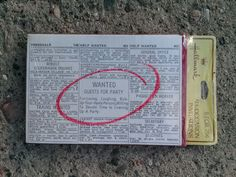 Vintage 1970s Party Invitations Help Wanted Guests by bycinbyhand