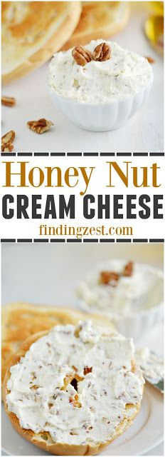 Ever wonder how to make honey nut cream cheese? Homemade is definitely the best and it super easy with this 3 ingredient recipe! This kid friendly recipe is perfect for breakfast on a bagel or on a graham cracker for a protein rich snack! Cream Cheese Homemade, Flavored Cream Cheeses, Homemade Ham, Cream Cheese Recipes, Flavored Butter, Protein Rich Snacks, Crockpot, Breakfast Sandwich Recipes, Breakfast Toast