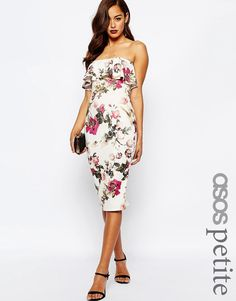 Image 1 of ASOS PETITE Printed Ruffle Dress