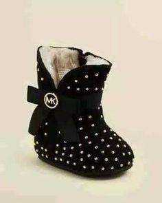 ★ Mysterious Black ★  High Style Baby Shoes with Leopard Prints and Bling from Michael Kors! (6 pictures) https://www.facebook.com/Stylisheve/posts/1173036062736973