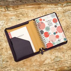 2020 Family Life Book Diary in Cover Organised Mum, Getting Organized, Leather Cover, Real Leather, Weekly Shopping List, School Forms, Diary Covers, School Routines, Business Card Holders