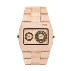 Orologio legno iupiter beige