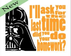 Darth Vader Typography Star Wars 8x10 Print Do your by DBArtist