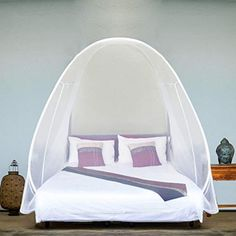 Bed Canopies & Drapes Pop Up Mosquito Net Tent Gift Large Twin King Size Bed 2 - Bed Tents - Ideas of Bed Tents King Size Canopy Bed, Queen Size Bedding, Popup, Play Beds, Bed Net, Single Size Bed, Camping Mattress, Folding Beds, Pop Up Tent