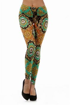 Sovereign Leggings inspired by the elegant style of noble Europe Fall Leggings, Women's Leggings, Tights, Paisley Color, Paisley Print, Fashion Prints, Red Gold, Colorful Leggings, Amazing Women