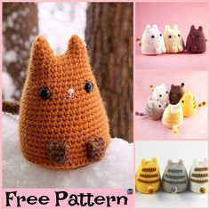 This crochet dumpling kitty pattern is super cute, and these kitties will be such a great gift for a little child. It is pretty simple to crochet, Love Crochet, Crochet For Kids, Diy Crochet, Crochet Crafts, Crochet Dolls, Yarn Crafts, Crochet Baby, Crochet Projects, Amigurumi Patterns