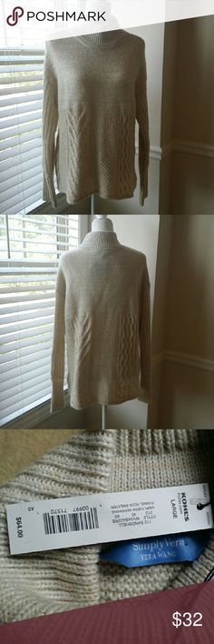 SimplyVera Vera Wang Sweater Very cute funnel neck sweater. 70% acrylic 26% cotton 4% other fibers Vera Wang Sweaters