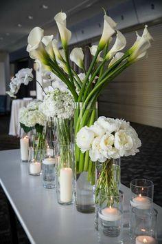 elegant white floral arrangements