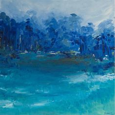 """A Beautiful Place by Kajal Zaveri, oil painting 30"""" h x 30"""" w"""