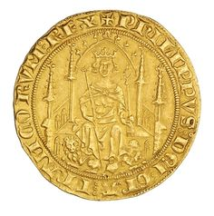 American Numismatic Society: Gold parisis d'or, France, 1322 - 1350. 1954.237.100