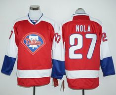 phillies 27 aaron nola red long sleeve stitched mlb jersey