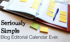 Seriously The Easiest Editorial Calendar Ever!