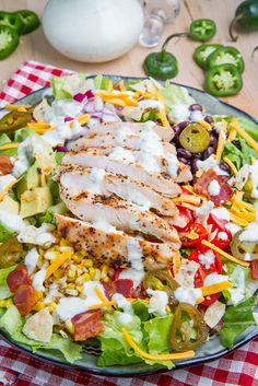Southwestern Grilled Chicken Jalapeno Popper Salad