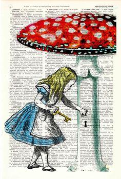 Alice in wonderland wall art-Alice in Prrintland Going by PRRINT