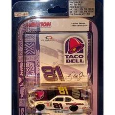 2004 Dale Earnhardt Jr #81 Taco Bell Monte Carlo 1/64 Scale Diecast Action Racing Collectables Limited Edition  2004 Dale Earnhardt Jr #81 Taco Bell Monte Carlo 1/64 Scale Diecast Action Racing Collectables Limited Edition  Features : 2004 Dale Earnhardt Jr #81 #Taco Bell #Monte Carlo 1/64 Scale #Diecast Action Racing Collectables Limited Edition *#Hood and Trunk DO NOT open  Product dimensions : 1.4x5.9x4.5 inches Product weight : 0.19 pounds
