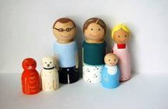 Painted peg people - love that all family members are represented : )