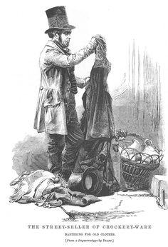 Pot Man-Pot Seller. Victorian London.