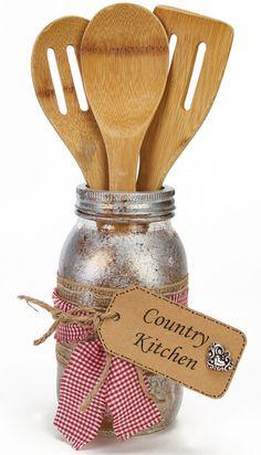 Nicole™ Crafts Country Kitchen Utensil Holder #craft #masonjar