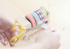 Little wood truck as washi tape dispenser