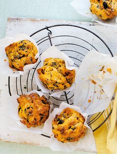 Chorizo, watercress and manchego cheese give these savoury breakfast muffins oomph. Enjoy them warm out the oven with butter or alongside baked eggs for a hearty brunch.