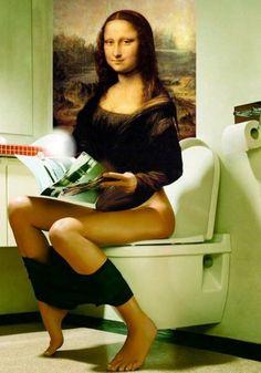 Mona Lisa caricatured by Artist unknown - https://www.tsu.co/lovinair