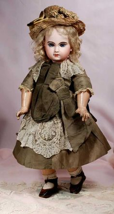 "Lot: 112. BEAUTIFUL FRENCH BISQUE JUMEAU BEBE WITH INCISED, Lot Number: 0112, Starting Bid: $3,000, Auctioneer: Frasher's Doll Auction, Auction: ""Fascination"", Date: March 26th, 2018 AEDT"