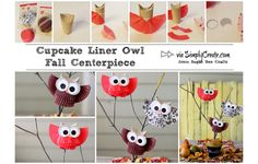 This owl centerpiece is a fun fall craft for kids. Add some autumn foliage, and you've got a Thanksgiving craft everyone will hoot over.