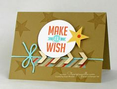 Great masculine birthday card: Make a Wish   Stampingville #StampinUp #cardmaking