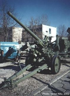 75 mm Vickers/Resita model 1936/39  AA gun  Romanian army  WW II Railway Gun, Military Equipment, Axis Powers, Special Forces, Armed Forces, Destruction, Cannon, World War Ii, Troops