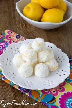 No Bake Sugar-Free Lemon Coconut Truffles-I wonder if you could use a torani SF syrup instead of the lemon to make it lower carb.