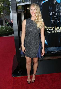 Leven Rambin wearing a glittery Adeam dress
