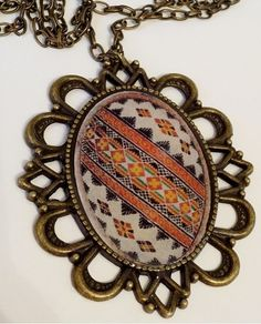 Ukrainian Easter Egg Traditional Pysanka Necklace  Crosses signify Christian Faith.  This beautiful antique bronze fancy 60x52mm pendant with an Traditional Ukrainian Easter Egg   called a Pysanka in