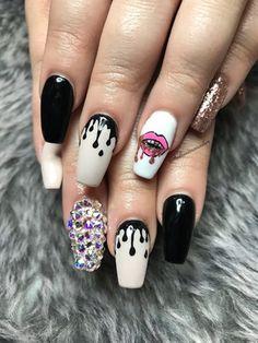 44 best drip nail art images  drip nails nail art nails