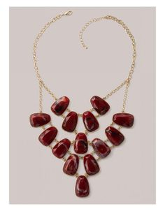 Noreen Necklace in Maroon | Sonsi