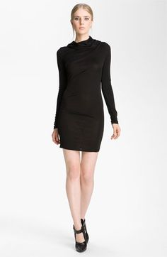 T by Alexander Wang Hooded Drape Dress available at #Nordstrom