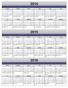 2015 PDF Calendar | Template 2: PDF template for two year calendar ...