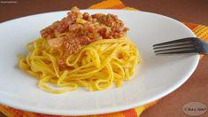Spaghetti alla chitarra con salsiccia e pancetta