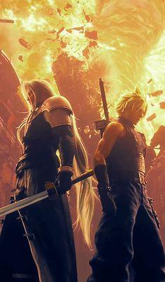 Final Fantasy Cloud, Final Fantasy Artwork, Final Fantasy Characters, Final Fantasy Vii Remake, Fantasy Series, Fantasy World, Illustrator, Anime Warrior, Gifs