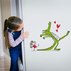 ¿Te piden un dragón? ;) Vinilos decorativos para niños Chispum