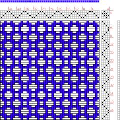 Hand Weaving Draft: Figure 484, A Manual of Weave Construction, Ivo Kastanek, 4S, 4T - Handweaving.net Hand Weaving and Draft Archive